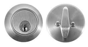 Parker Single Cylinder Deadbolt - Commercial - Stainless Steel - Schlage Keyway