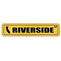 Riverside STREET - US Cities - Street Sign [ Decorative Crossing Sign Wall Plaque - Crossing Riverside
