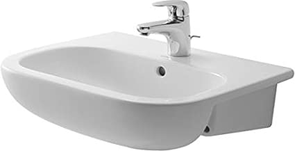 Duravit 11 D-Code Semi-Recessed Furniture Basin 11 11/11, 11 ...