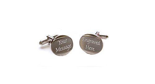 Personalised Bevelled Chrome / Satin Cufflinks, Engraved FREE, Birthday, Wedding, Anniversary Gift by AJ In The Forest