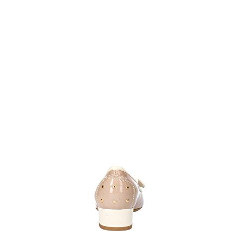 CALPIERRE Zapatos de Salón Mujer Beige Charol Cuero AG717 (35 EU)