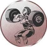 Motiv Gewichtheben S.B.J Sportland Pokal//Medaille Emblem Durchmesser Durchmesser 50 mm