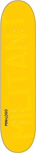 Mini-Logo Skateboards Deck, Yellow, 7.88