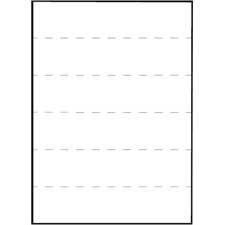 (Tabbies : Transcription Label,Unruled,1/Sheet,8-1/2