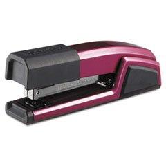 -- Antimicrobial Full Strip Metal Stapler, 25-Sheet Capacity, Magenta Wine Metallic