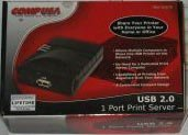 CompUSA USB 2.0 1 Port Print Server