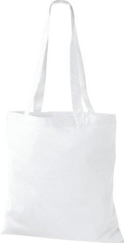 Stoffbeutel Baumwolltasche Beutel Shopper Umhängetasche viele Farbe White