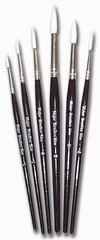 Sable substitue brushes, pack of 5 Major Brushes