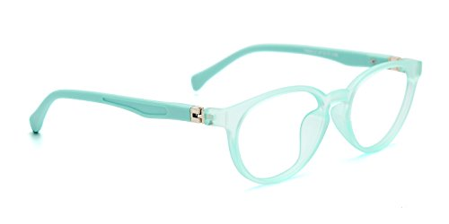 TIJN Kids Flex Oval Eyeglasses Frame for Girls Toddler, Mint - For Kids Prescription Glasses Cheap