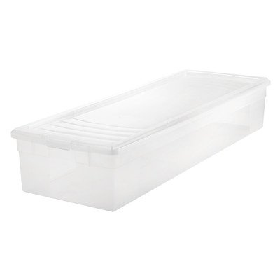 "IRIS USA 105000 30"" Wrapping Paper Storage Box, Clear"