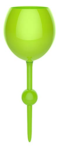 The Beach Glass - Original Floating Glass, Acrylic and Shatterproof Wine, Beer, Cocktail, Drinking Glasses for Pool, Beach, Camping and Outdoor Use - 12 Ounce (Sea Green) -