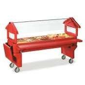 Carlisle Six Star 660605 Polyethylene 6 ft. Portable Food Bar with Legs, Red by Carlisle
