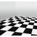 Black and White 24 in. x 24 in. Comfortable Mat (100 sq.ft. / Case)