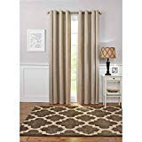 Better Homes and Gardens Solid Basketweave Grommet Curtain Panel, 50 x 84, Warm Clay
