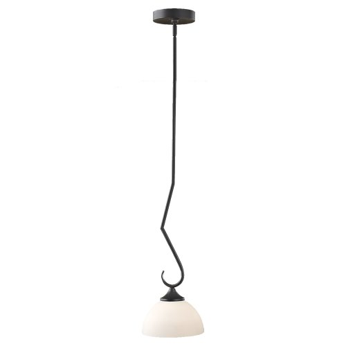 - Feiss P1221BK 1-Bulb Chandelier, Black Finish