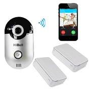 Hibell WiFi Video Doorbell Doorphone with 2x indoor unit Home Security Camera Phone Intercom Alarm PnP Andriod Apple Push Notification