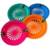 (16 Pack) Reusable Plastic Paper Plate Holders for 9'' Plates Tropical Colors