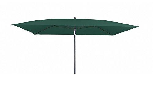 Doppler Absolut wasserdichter Gartenschirm Waterproof 225x120 ohne Volant, UV-Schutz 80, Farbe dunkelgrün