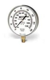Weiss Instruments, Inc. 4CTS160 HVAC GAUGE STAINLESS STEEL CASE STEM MOUNTED