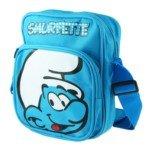 Cute Cartoon Style Canvas Kids Children Shoulder Bag School Bag-The Smurfs