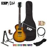 ESP-LTD-EC10KIT-2TB-Electric-Guitar-with-10-Feet-Cable-Strap-Stand-DVD-Tuner-ChromaCast-Pick-Sampler-and-ESP-Gig-Bag