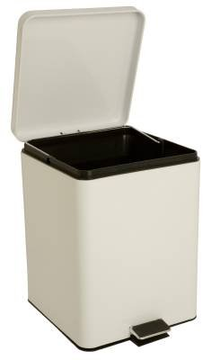 McKesson 81-35269 Entrust Waste Can, Steel, Square, 17-1/4'' Height, 11-3/4'' Width, 11'' Length, 5 gal, White, Square