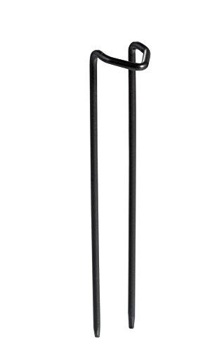 Grasslands Road Metal Garden Anchor Pins for Birdbaths, 5-Inch, Black, Set of 3 by Grasslands Road