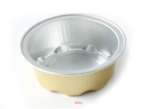 "KEISEN 2 4/5"" mini Disposable Aluminum Foil Cups 50ml 100/PK 2oz for Muffin Cupcake Baking Bake Utility Ramekin Cup (gold)"