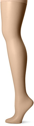 CK Women's Sheer Stretch Pantyhose with Control Top, Buff, Size D