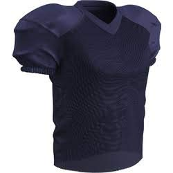 (CHAMPRO Adult Stretch Polyester Practice Football Jersey, Navy, X-Large )