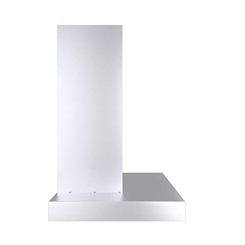 Ancona WRC436 Wall-Mounted Rectangle Shaped Convertible Range Hood, 36-Inch, Stainless Steel