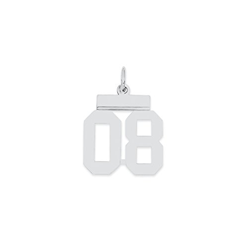 925 sterling silver small number 08 top