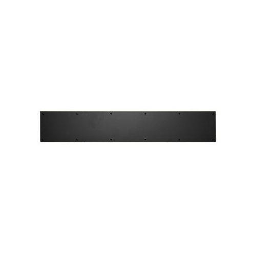 Baldwin 2000.0834 8 Inch x 34 Inch Solid Brass Kick Plate, Satin Black