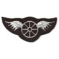 LAPD Los Angeles Police Department - Wheel with Wings - Silver/ Grey Color - Traffic Motor Officer Shoulder Patch (2-3/4 x 1-1/4