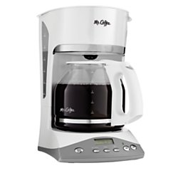 White Mr Coffee Coffee Programmable Maker (Mr. Coffee 12-Cup Programmable Coffee Maker, White)