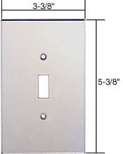 C.R. LAURENCE PMP101 CRL Clear Single Toggle Switch Acrylic Mirror Plate