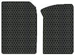 Mercedes-Benz 280SL Custom-Fit All-Weather Rubber Floor Mats 2 Pc Fronts - With Air Conditioner - Black (1967 67 1968 68 1969 69 1970 70 1971 71 ) - Mats Custom 280sl