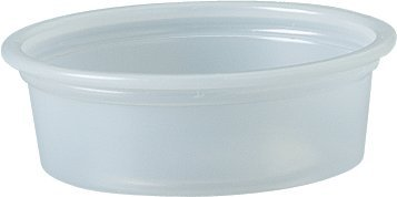 Solo Plastic Cups 0.5 oz Clear Portion Container for Food, Beverages, Crafts (Pack of 125)