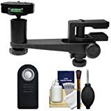 Makaw Video Perch Camera Mount Clamp with Ballhead and Quick Release + Remote Kit for Canon Rebel T6i, T7i, SL1, 80D, Nikon...