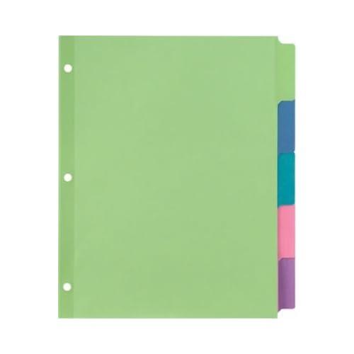 staples tab writable dividers multicolor large 5 tab set 13512