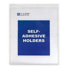 Bx Self Adhesive - C-Line Self-Adhesive Shop Ticket Holders, Heavy, 50 inch, 9 x 12, 50/BX