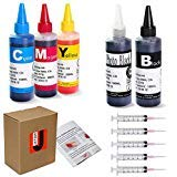 (JetSir 5 Colors Compatible ink refill kit for Canon 250/251 225/226 125/126 270/271 1200 2200 1500 2500 PG210 CL211 PG245 CL246 ect,Suit PIXMA iP7220, MG5420, MG5520, MG6420, MX722, MX922 Ect Printers)
