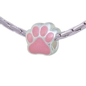 Buckets of Beads Paw Charm Bead, Pink
