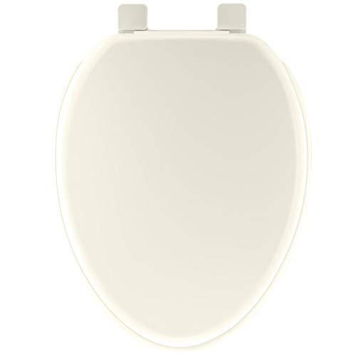 Mirabelle MIRTSSC200BS Biscuit Elongated Slow-Close Toilet Seat with Lid