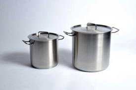 United Scientific Utility Tanks With Lid (Stock Pot), Stainless Steel 17 L by United Scientific