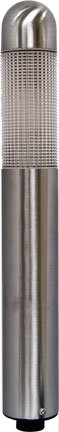 "Dabmar LV61-SS 9"" Mini Bollard Prismatic Lens 20W 12 Path Light, Stainless Steel Finish"