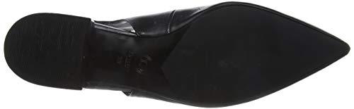 pelle da Dune nera nera chiusi donna sandali neri Celene pelle 4wBq1F