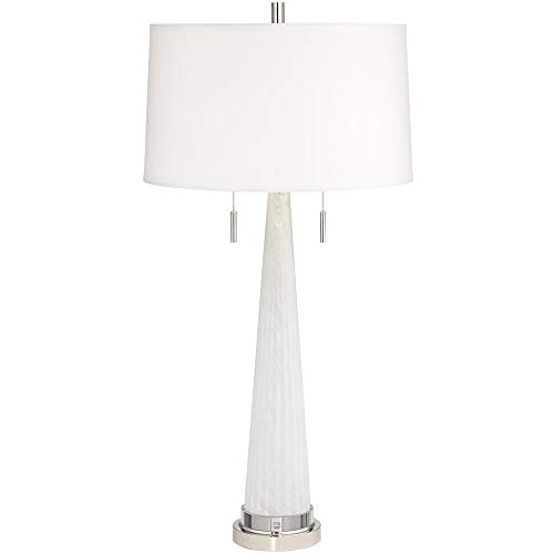 Pacific Coast Lighting 14H80 Zoe Tall Frosted Glass White 1-Light 150W Table Lamp
