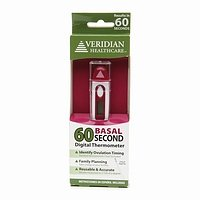 Veridian Healthcare 60 Second Digital Basal Thermometer, 1 ea - 2pc
