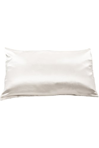 Price comparison product image Fishers Finery 19mm Mulberry Silk Queen Pillowcase,  Natural White